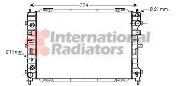 Radiateur, refroidissement du moteur - VAN WEZEL - 18002346