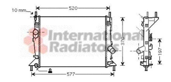 Radiateur, refroidissement du moteur - VAN WEZEL - 18002368