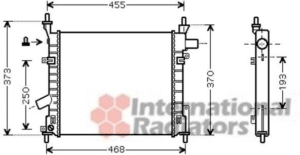 Radiateur, refroidissement du moteur - VAN WEZEL - 18002372