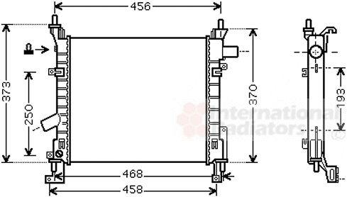Radiateur, refroidissement du moteur - VAN WEZEL - 18002373