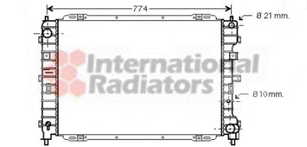 Radiateur, refroidissement du moteur - VAN WEZEL - 18002375