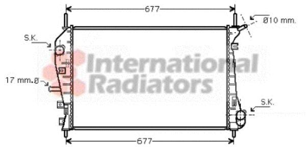 Radiateur, refroidissement du moteur - VAN WEZEL - 18002376