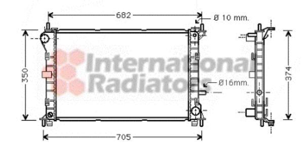 Radiateur, refroidissement du moteur - VAN WEZEL - 18002379