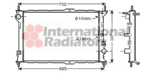 Radiateur, refroidissement du moteur - VAN WEZEL - 18002381