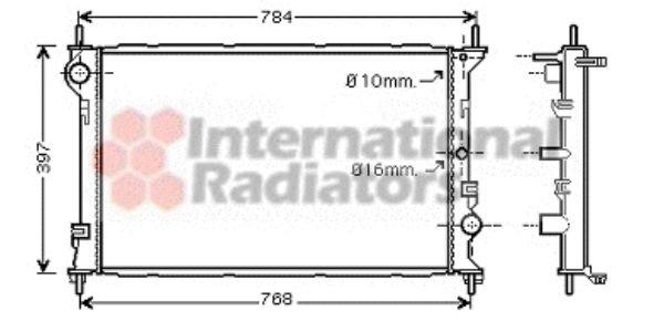 Radiateur, refroidissement du moteur - VAN WEZEL - 18002382