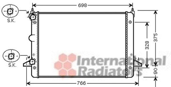 Radiateur, refroidissement du moteur - VAN WEZEL - 18002396