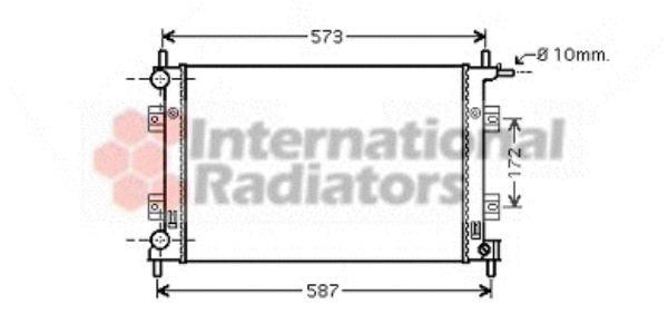 Radiateur, refroidissement du moteur - VAN WEZEL - 18002398