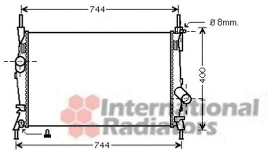 Radiateur, refroidissement du moteur - VAN WEZEL - 18002403