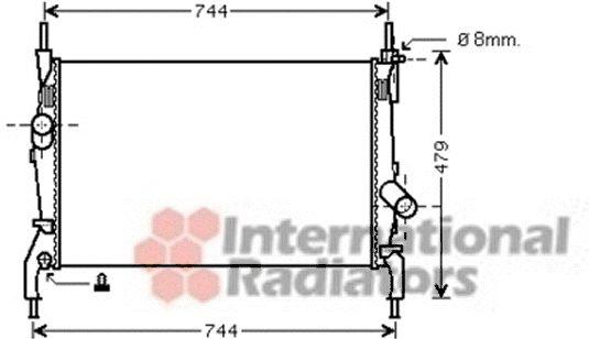 Radiateur, refroidissement du moteur - VAN WEZEL - 18002404