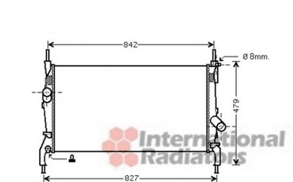 Radiateur, refroidissement du moteur - VAN WEZEL - 18002405