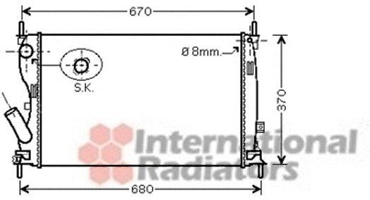 Radiateur, refroidissement du moteur - VWA - 88VWA18002408