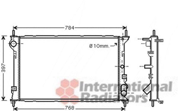 Radiateur, refroidissement du moteur - VAN WEZEL - 18002411