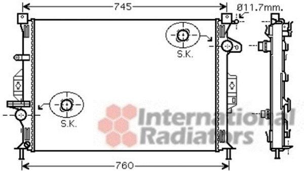 Radiateur, refroidissement du moteur - VAN WEZEL - 18002422