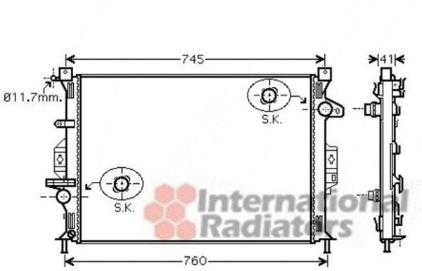 Radiateur, refroidissement du moteur - VAN WEZEL - 18002424