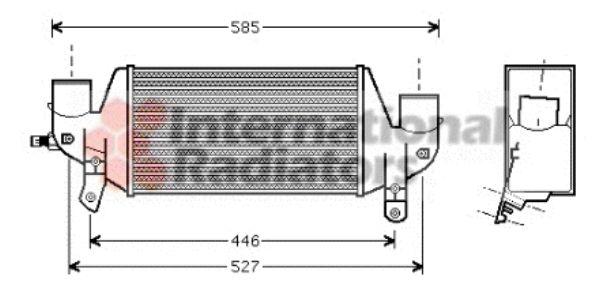 Intercooler, échangeur - VAN WEZEL - 18004313