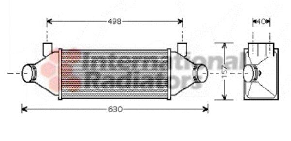 Intercooler, échangeur - VAN WEZEL - 18004314