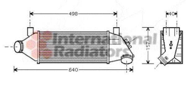 Intercooler, échangeur - VAN WEZEL - 18004315