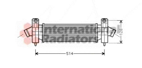 Intercooler, échangeur - VAN WEZEL - 18004341
