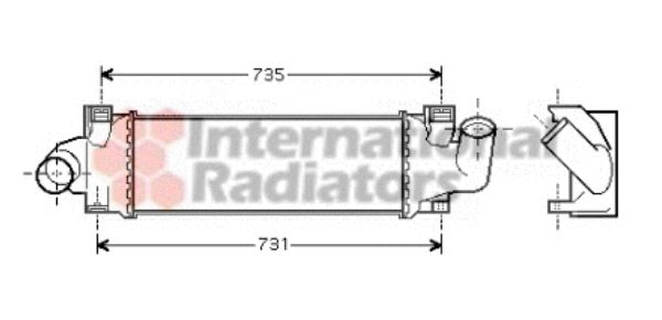 Intercooler, échangeur - VAN WEZEL - 18004366