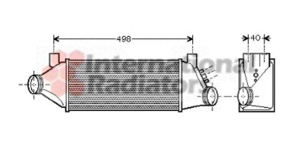 Intercooler, échangeur - VAN WEZEL - 18004385