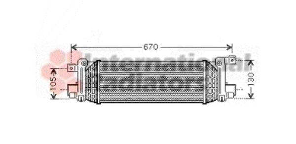 Intercooler, échangeur - VAN WEZEL - 18004401