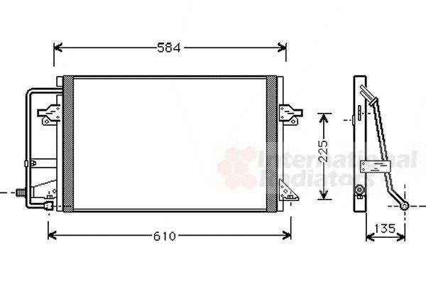 Condenseur, climatisation - VAN WEZEL - 18005178