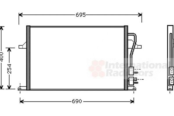 Condenseur, climatisation - VWA - 88VWA18005259