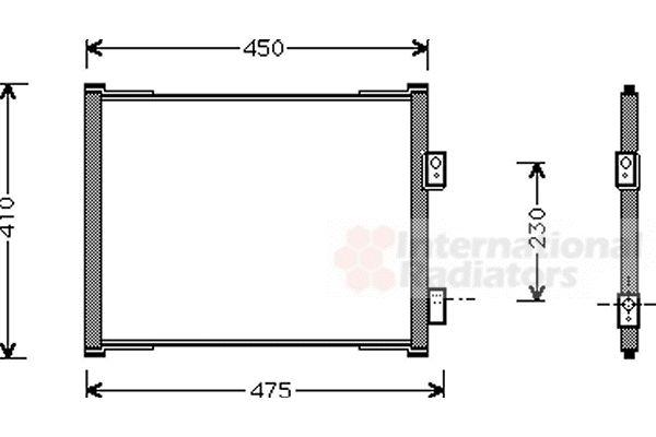 Condenseur, climatisation - VAN WEZEL - 18005262