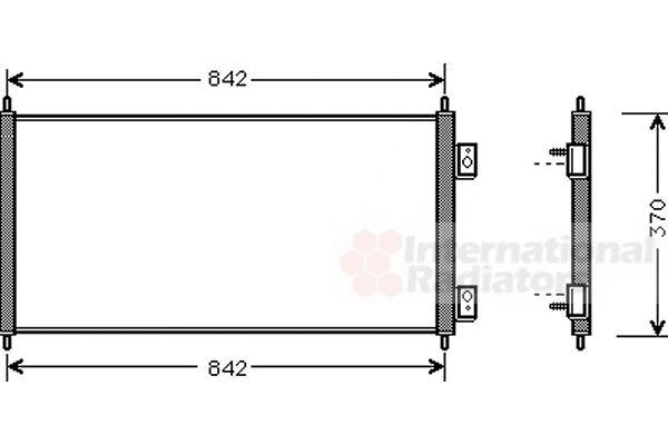 Condenseur, climatisation - VAN WEZEL - 18005303