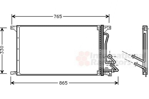 Condenseur, climatisation - VAN WEZEL - 18005304