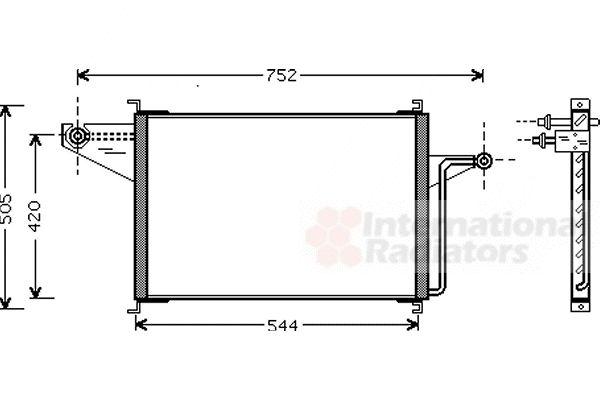 Condenseur, climatisation - VAN WEZEL - 18005305