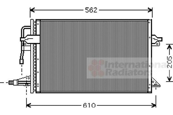 Condenseur, climatisation - VAN WEZEL - 18005323