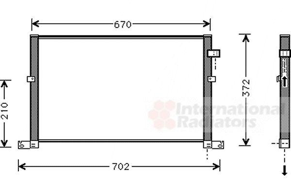 Condenseur, climatisation - VAN WEZEL - 18005334