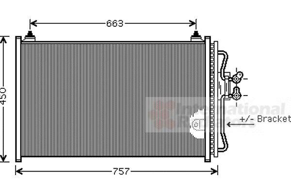 Condenseur, climatisation - VAN WEZEL - 18005347