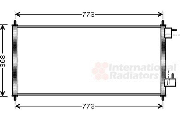 Condenseur, climatisation - VAN WEZEL - 18005361