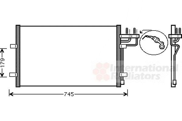 Condenseur, climatisation - VAN WEZEL - 18005367