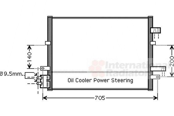 Condenseur, climatisation - VAN WEZEL - 18005377
