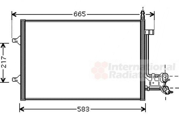 Condenseur, climatisation - VAN WEZEL - 18005395
