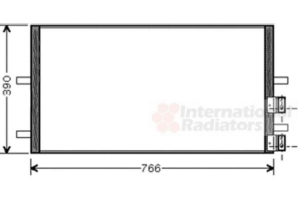 Condenseur, climatisation - VAN WEZEL - 18005407
