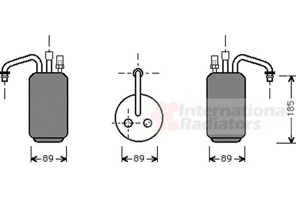 Filtre déshydratant, climatisation - VAN WEZEL - 1800D017