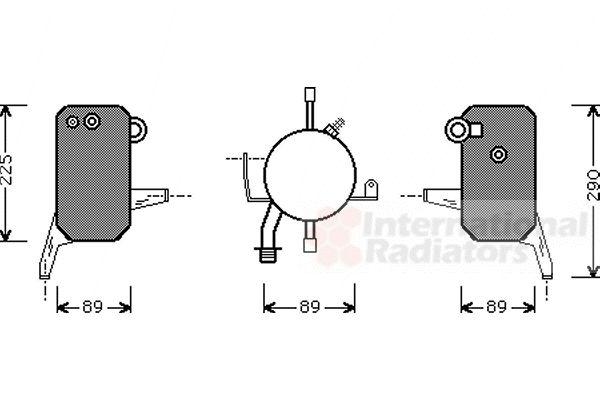 Filtre déshydratant, climatisation - VAN WEZEL - 1800D119