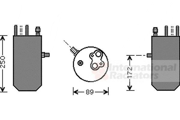 Filtre déshydratant, climatisation - VAN WEZEL - 1800D125