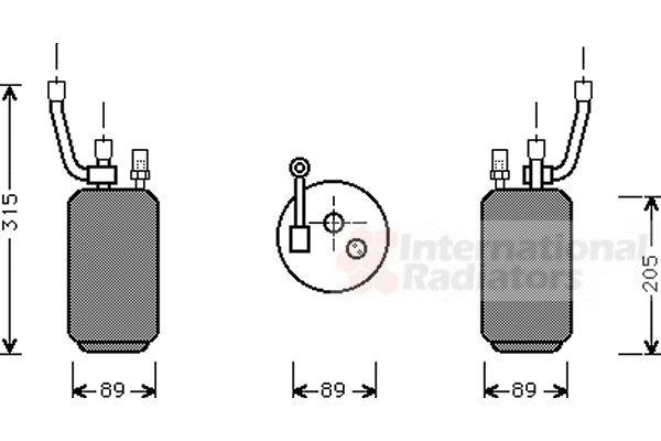 Filtre déshydratant, climatisation - VAN WEZEL - 1800D274
