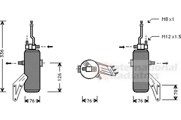 Filtre déshydratant, climatisation - VAN WEZEL - 1800D293