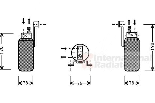 Filtre déshydratant, climatisation - VAN WEZEL - 1800D296