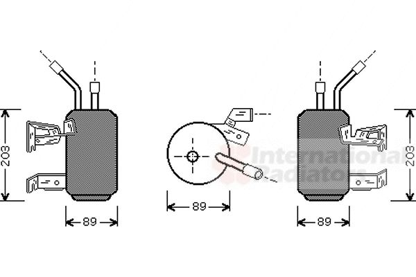 Filtre déshydratant, climatisation - VAN WEZEL - 1800D312