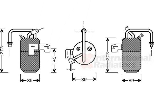 Filtre déshydratant, climatisation - VAN WEZEL - 1800D331