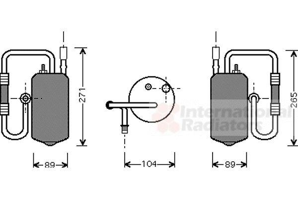 Filtre déshydratant, climatisation - VAN WEZEL - 1800D349