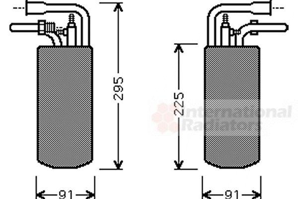 Filtre déshydratant, climatisation - VAN WEZEL - 1800D384