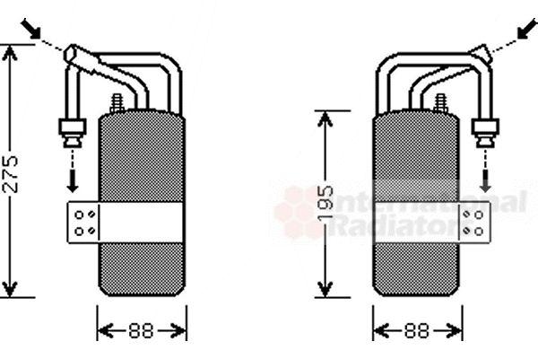 Filtre déshydratant, climatisation - VAN WEZEL - 1800D386